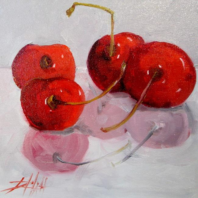 Art: Cherries No. 4 by Artist Delilah Smith