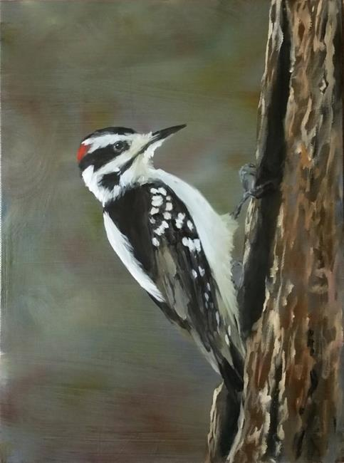 Art: Woodpecker Demo by Artist Kimberly Vanlandingham