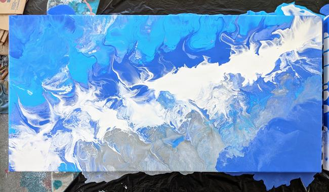 Art: Ocean Song II (sold) by Artist Amber Elizabeth Lamoreaux