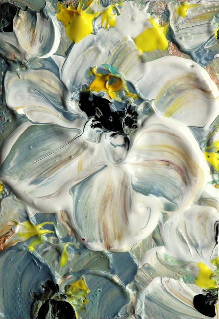 Art: WHITE PETUNIAS ACEO by Artist LUIZA VIZOLI