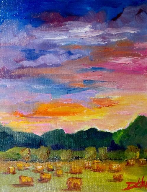 Art: Straw Field by Artist Delilah Smith