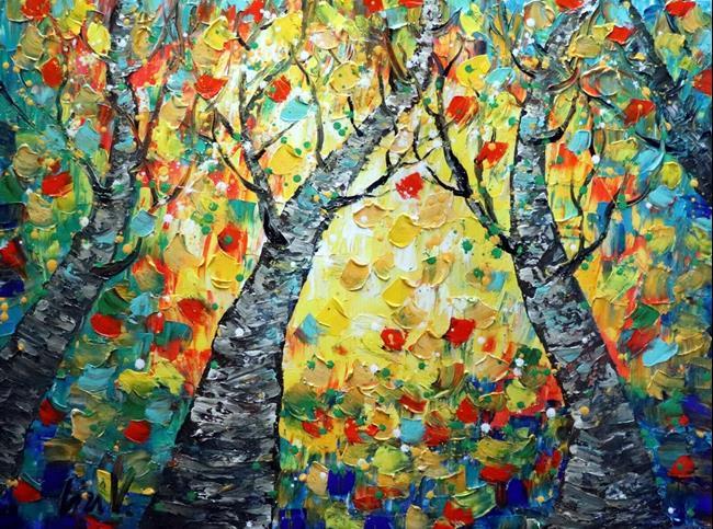 Art: SYMPHONY OF LEAVES by Artist LUIZA VIZOLI
