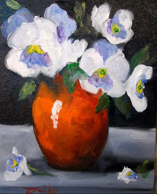 Art: Pansy Still Life by Artist Delilah Smith