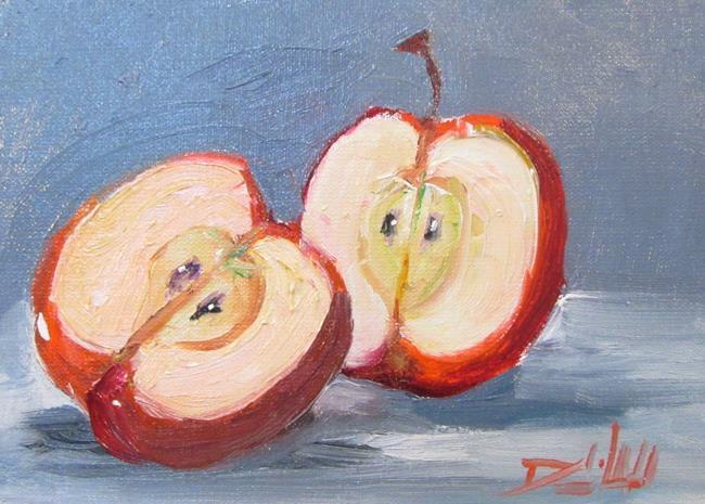 Art: Cut Apple by Artist Delilah Smith