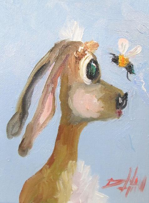 Art: Long Eared Bunny by Artist Delilah Smith