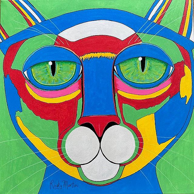Art: Pop Art Cat - Commission by Artist Ulrike 'Ricky' Martin