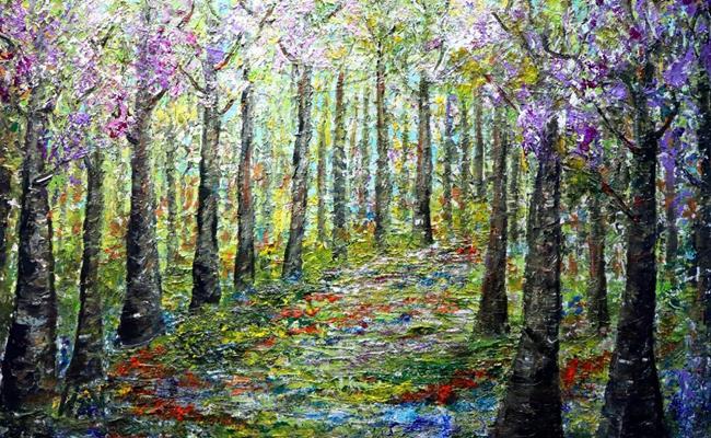 Art: A Glorious SPRING Day by Artist LUIZA VIZOLI
