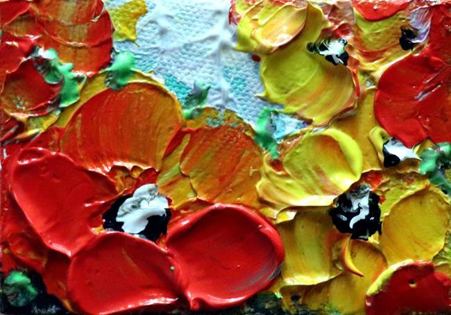 Art: RED YELLOW PETUNIAS by Artist LUIZA VIZOLI