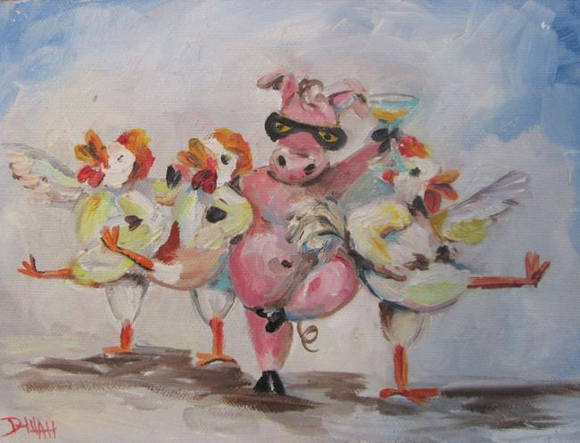 Art: Party Pig and Conga Chicken by Artist Delilah Smith
