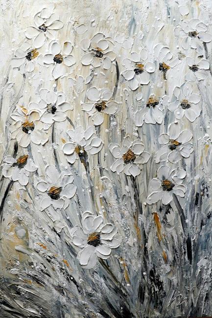 Art: Flowers Carried by the Wind by Artist LUIZA VIZOLI
