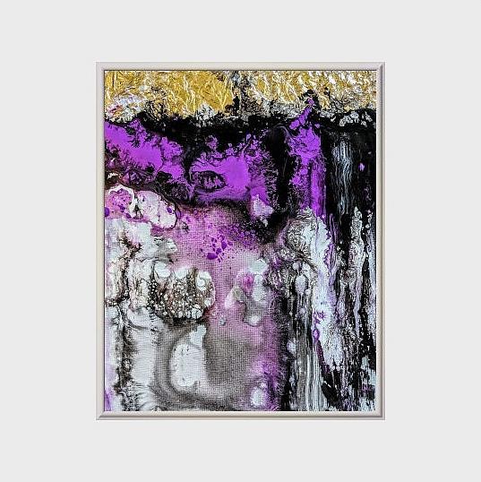 Art: Amethyst Symphony (sold) by Artist Amber Elizabeth Lamoreaux