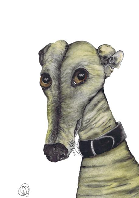 Art: GREYHOUND g987 by Artist Dawn Barker
