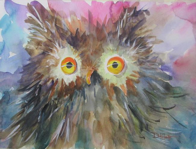 Art: Fat Owl by Artist Delilah Smith