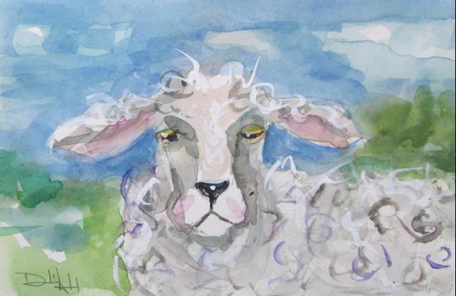 Art: Fuzzy Lamb by Artist Delilah Smith