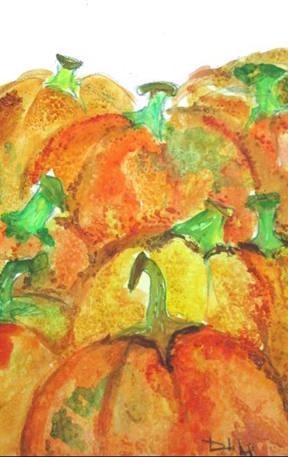 Art: Pumpkins by Artist Delilah Smith