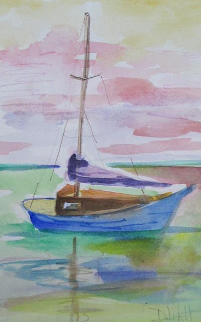 Art: Sailboat No. 30 by Artist Delilah Smith