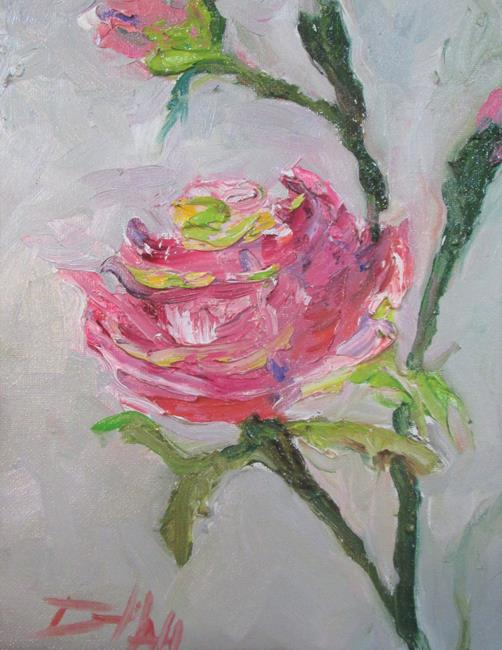 Art: Pink Rose No. 12 by Artist Delilah Smith
