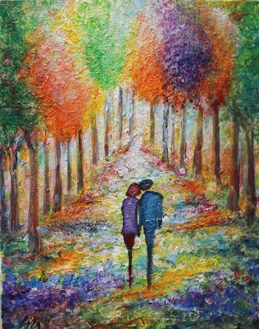 Art: Spring Blossom Romance by Artist LUIZA VIZOLI