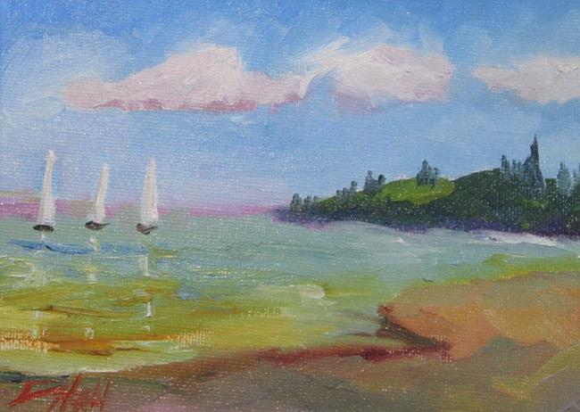 Art: Bay of Boats by Artist Delilah Smith