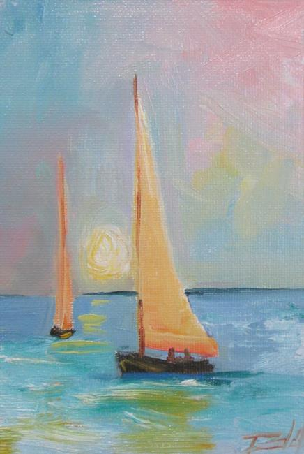 Art: Sunset Sail by Artist Delilah Smith