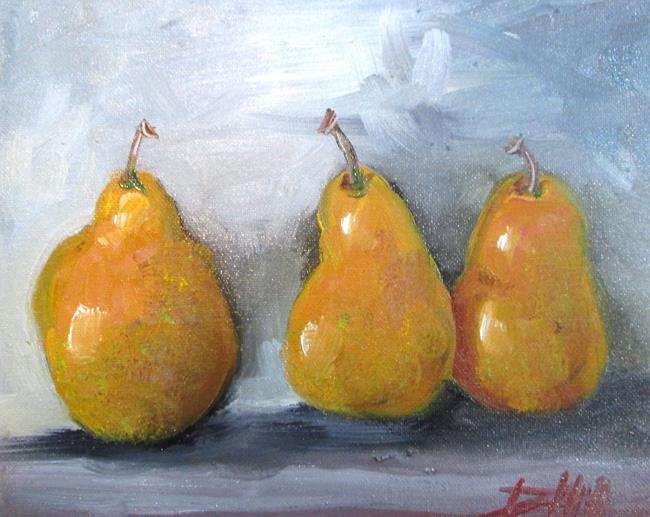 Art: Three Golden Pears by Artist Delilah Smith