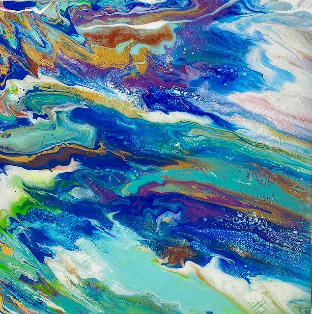 Art: Resin Abstract by Artist Ulrike 'Ricky' Martin
