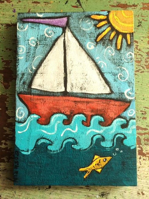 Art: Sail Away by Artist Cindy Bontempo (GOSHRIN)