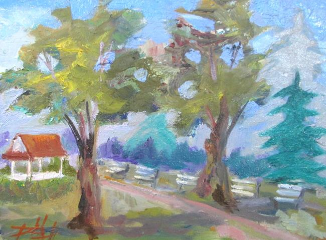 Art: Benchs in the Park by Artist Delilah Smith