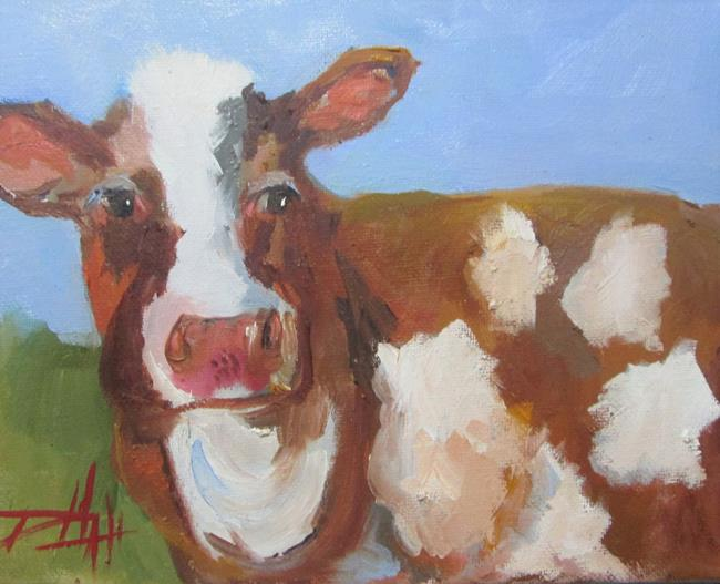 Art: Brown Cow No. 2 by Artist Delilah Smith