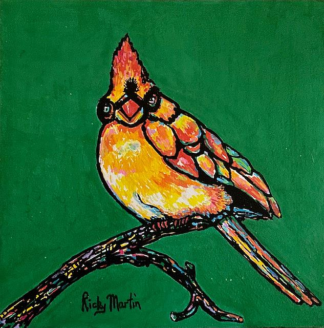 Art: Pop Art Bird by Artist Ulrike 'Ricky' Martin