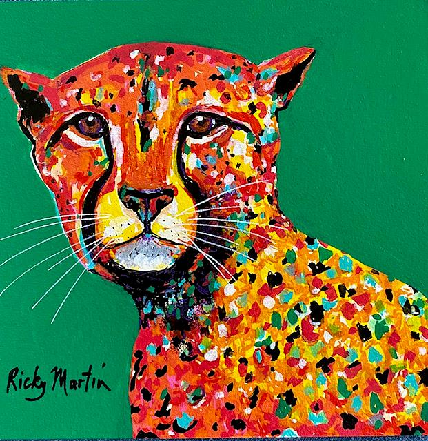 Art: Pop Art Cheetah by Artist Ulrike 'Ricky' Martin