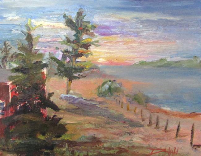Art: Sunset at Glen Haven by Artist Delilah Smith