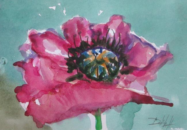 Art: Pink Poppy by Artist Delilah Smith