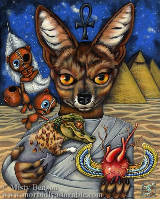 Art: Judgement from the Morbidly Adorable Tarot by Artist Misty Monster (Benson)
