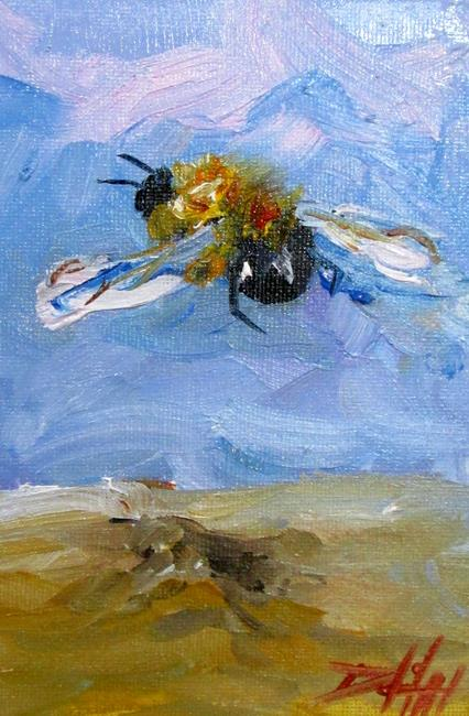 Art: Flying Bee by Artist Delilah Smith
