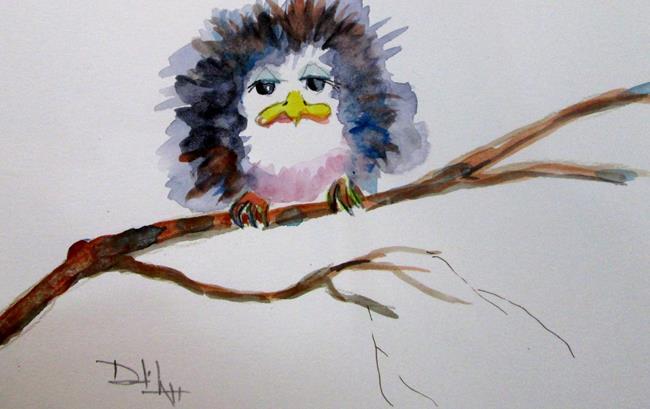Art: A Sad Fluffy Bird by Artist Delilah Smith