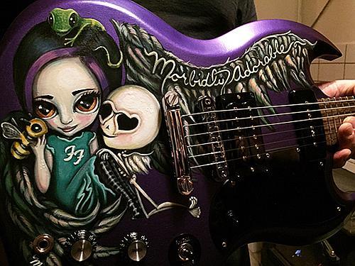 Art: Morbidly Adorable Guitar by Artist Misty Monster (Benson)