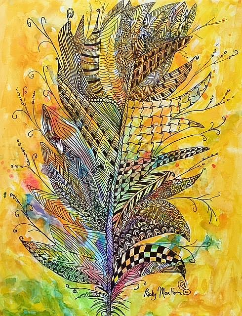 Art: Feather - sold by Artist Ulrike 'Ricky' Martin