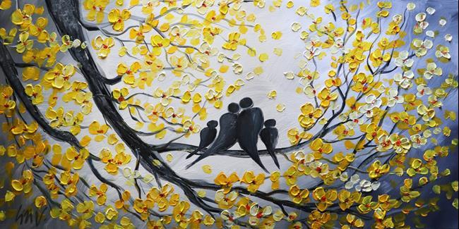 Art: KISS ME Happy Family by Artist LUIZA VIZOLI