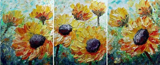 Art: SUMMER TUSCANY SUNFLOWERS by Artist LUIZA VIZOLI