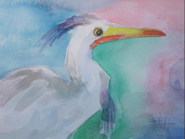 Art: Egret No. 6 by Artist Delilah Smith