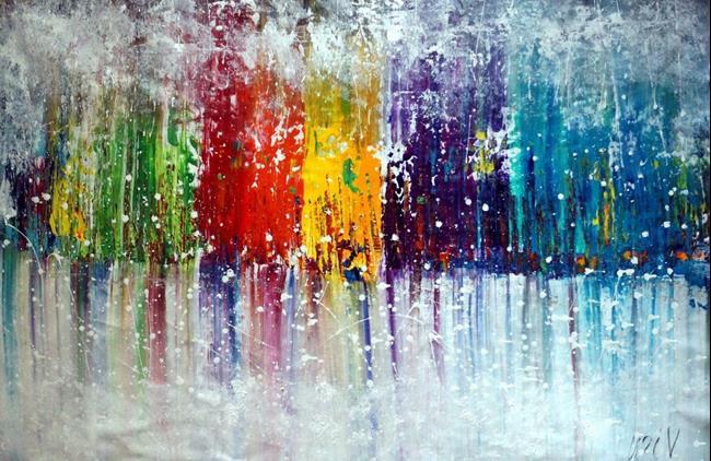 Art: Colorful Mist by Artist LUIZA VIZOLI