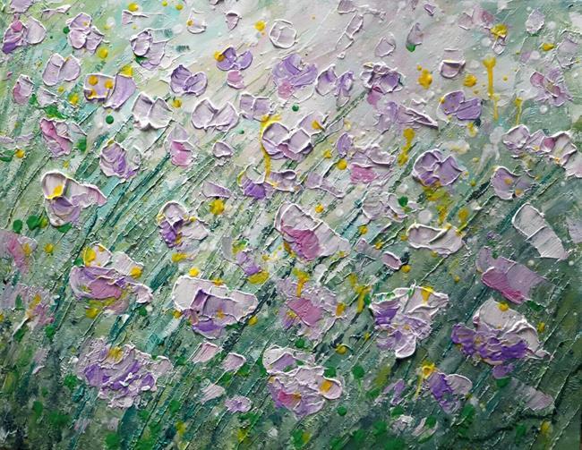 Art: SPRING WILDFLOWERS by Artist LUIZA VIZOLI