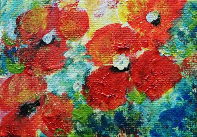 Art: Mini Poppies by Artist LUIZA VIZOLI