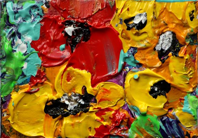 Art: Miniature Poppies by Artist LUIZA VIZOLI