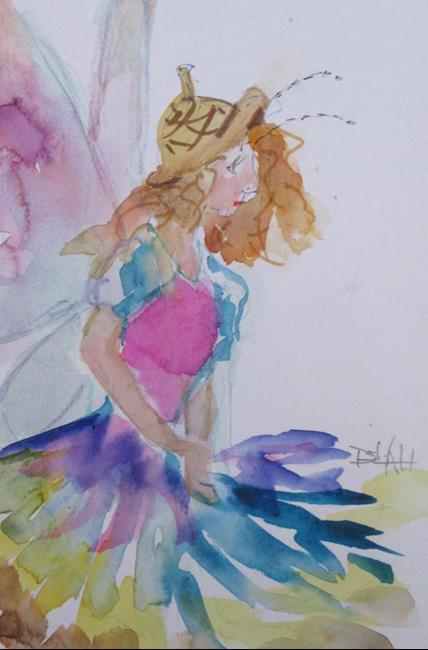 Art: Fall Fairy by Artist Delilah Smith