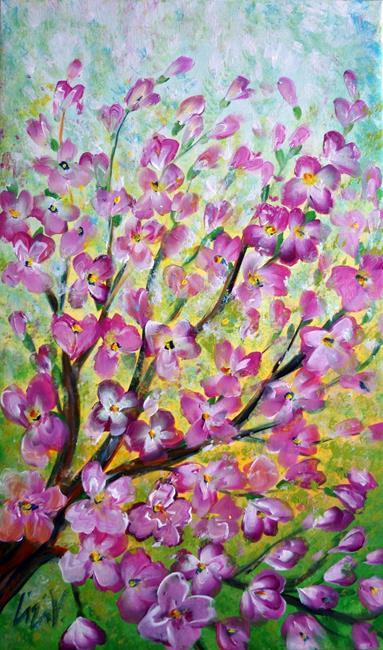 Art: Pink Blossom by Artist LUIZA VIZOLI