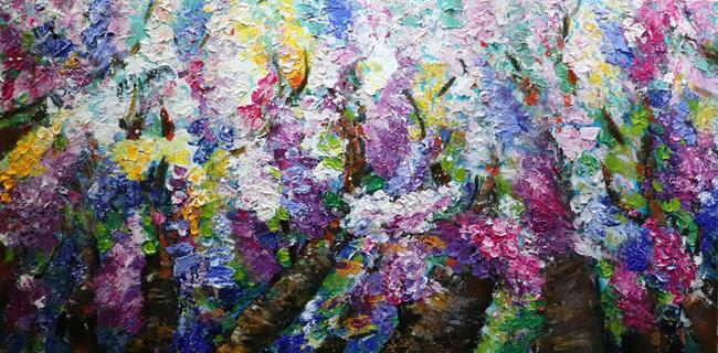 Art: LILACS IN BLOOM by Artist LUIZA VIZOLI
