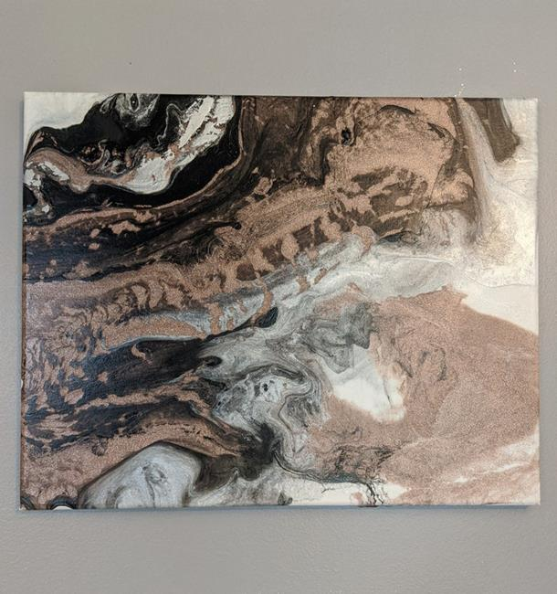 Art: Rose Gold Marble (sold) by Artist Amber Elizabeth Lamoreaux