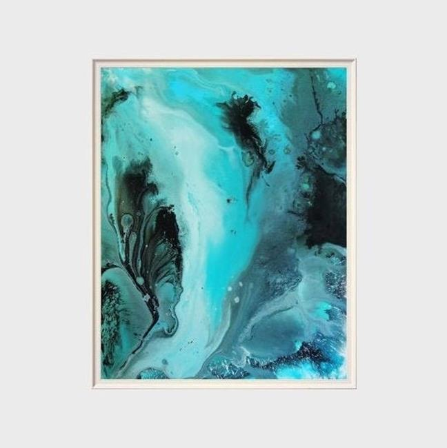 Art: The Minty Way (sold) by Artist Amber Elizabeth Lamoreaux